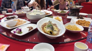 Traditional Peking Duck feast with the program.